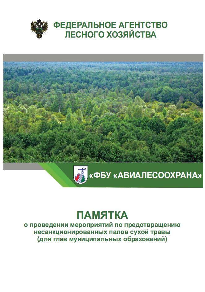 Памятка о проведении мероприятий по предотвращению несанкционированных палов сухой травы памятка для глав муниципальных образований