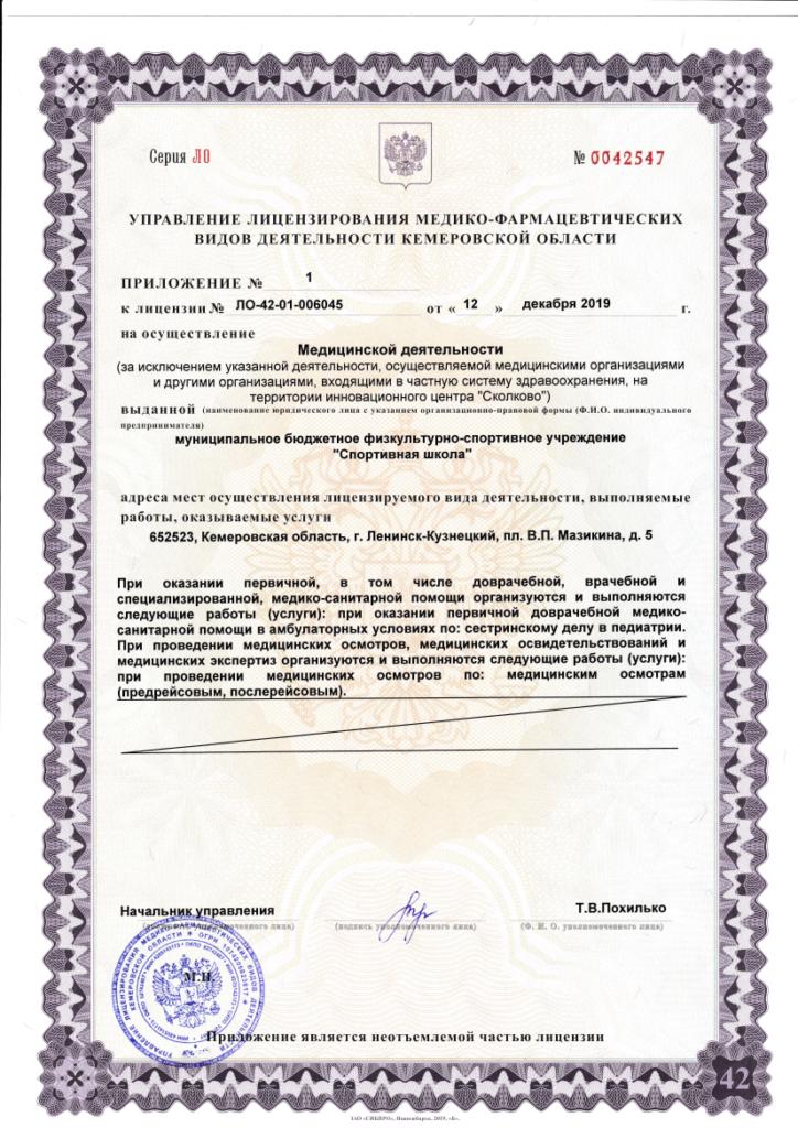 Лицензия на осуществление медицинской деятельности, стр. 3