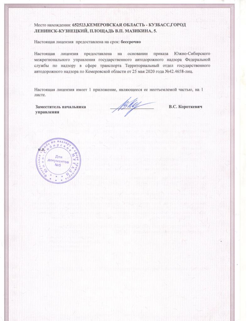 Лицензия на осуществление деятельности по перевозкам пассажиров и иных лиц автобусами, стр. 2